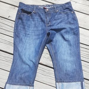 Merona cropped jeans 0602c
